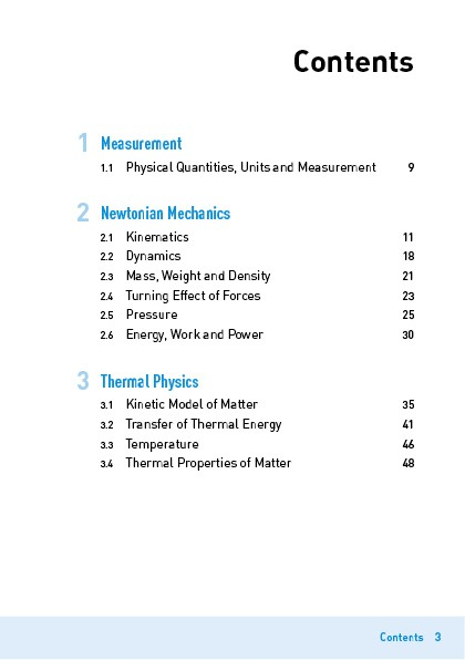 Explain That GCE 'O' Level Physics Contents