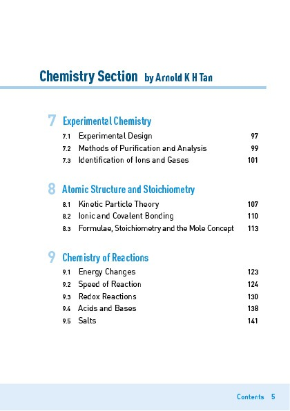 Explain That GCE 'O' Level Science (Physics/Chemistry) Contents